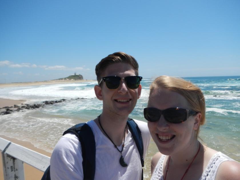 Me and Sara on the Beach
